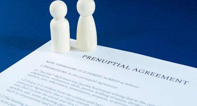 Pre-Nuptial Financial Agreements